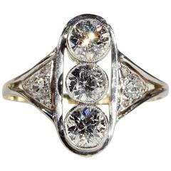 Antique Edwardian Gold Diamond Platinum Ring