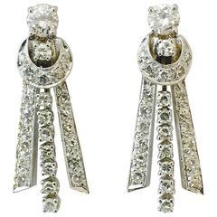 Dramatic Diamond Gold Drop Earrings
