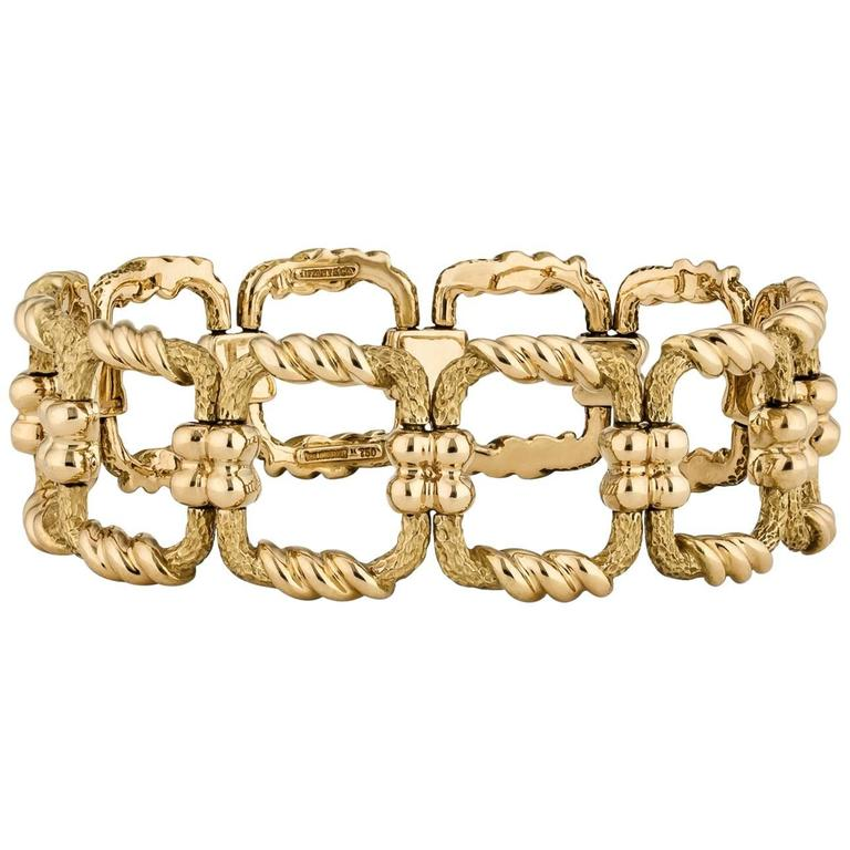 Jean Schlumberger for Tiffany & Co. Square Link Gold Bracelet