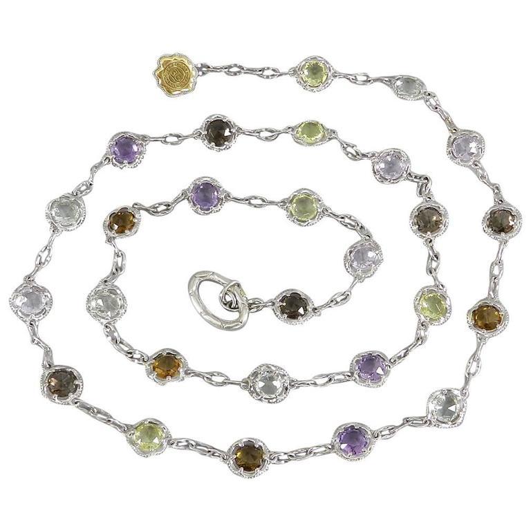 Tacori Color Medley Gum Drop Necklace For Sale