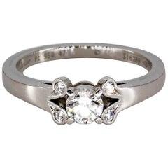 Cartier Ballerine Diamond Platinum Engagement Ring
