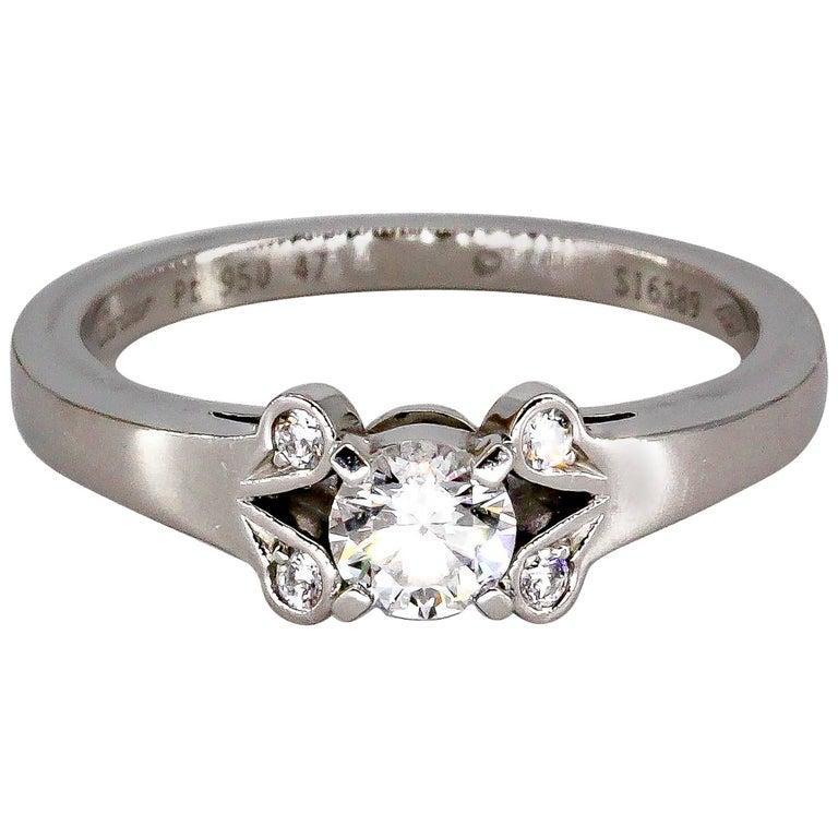 Cartier Ballerine Diamond Platinum Engagement Ring For Sale