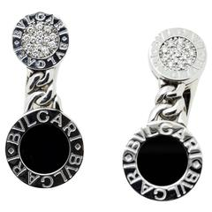 BVLGARI Onyx & Diamond Clip On Earrings