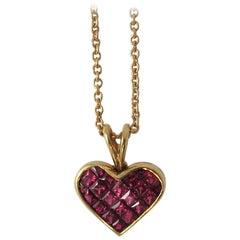 Ambar Quadrillion Ruby Gold Heart Pendant