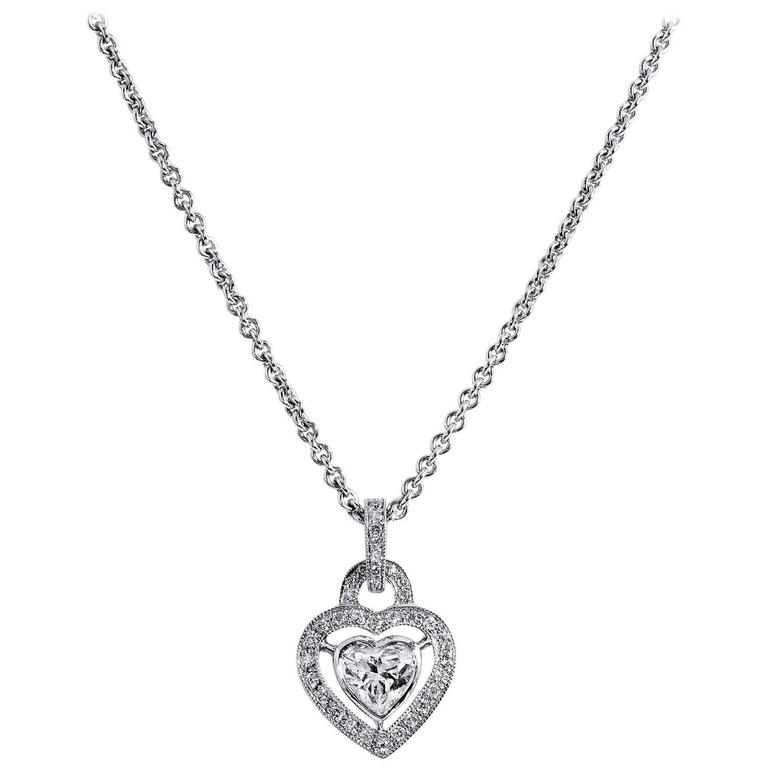 Heart-Shaped Diamond Gold Pendant