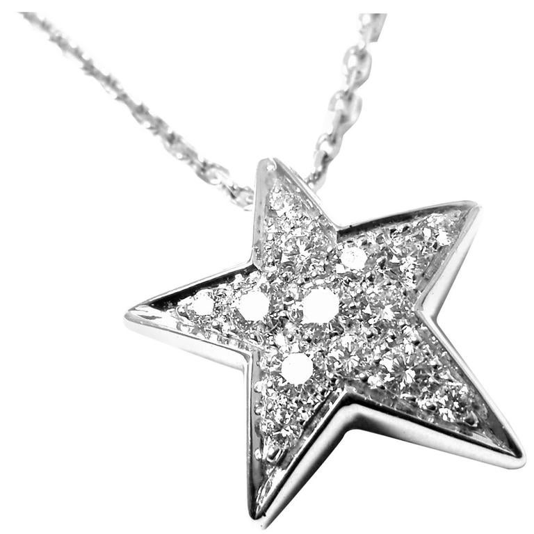 Chanel Comete Diamond Star Gold Pendant Necklace At 1stdibs