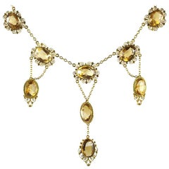 Early 19th Century Necklace of Citrines and Gold