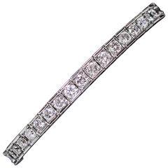 White Gold Round Cut Diamond Tennis Bracelet 7.02 Carat