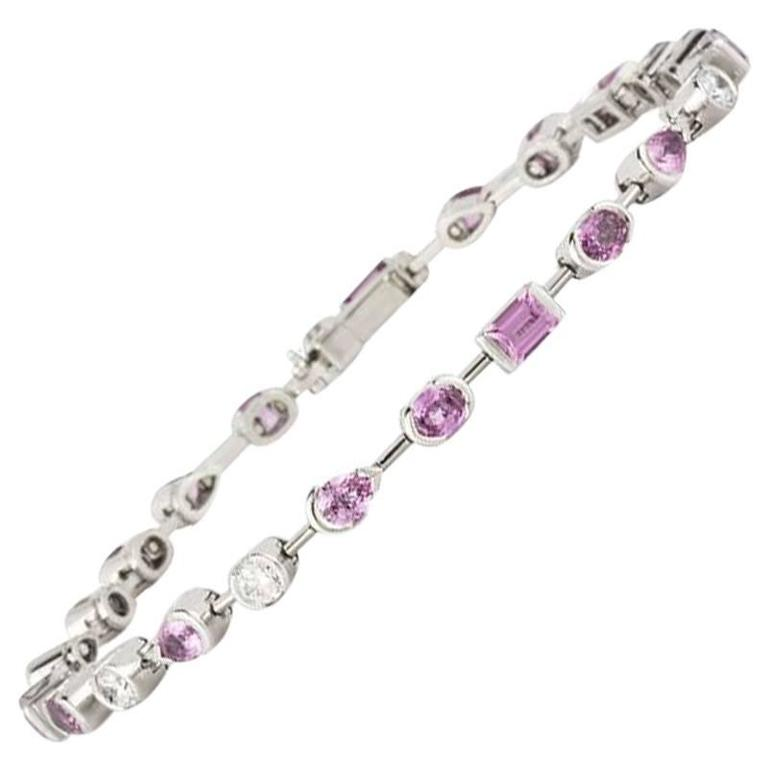 Cartier Meli Melo Bracelet Diamond and Pink Sapphire For Sale