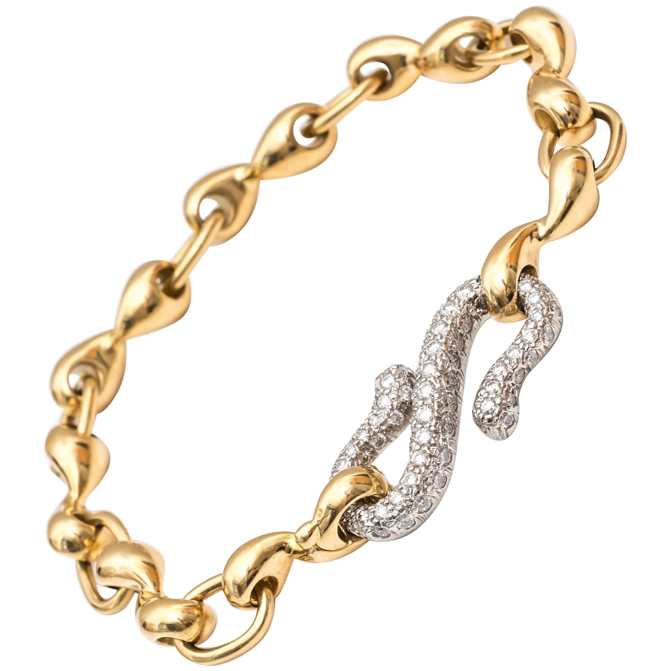 1990s Tiffany & Co. Diamond Platinum Bracelet