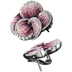 Sicis Rose Carpet Diamond Gold Earrings