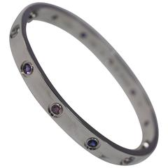 Cartier Aquamarines Sapphires Spinels Amethysts gold 16 Love Bracelet