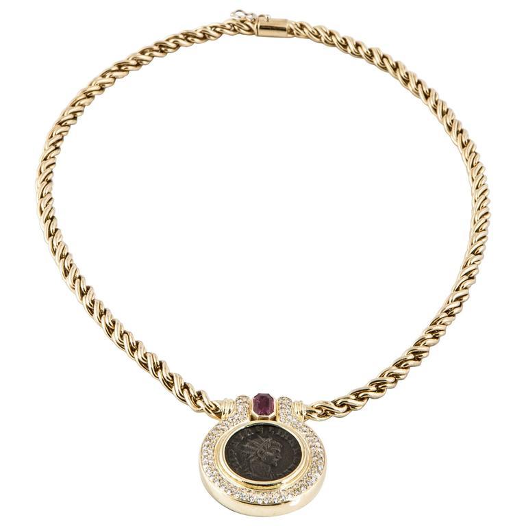 Garavelli 18K Coin Necklace