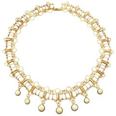 1930s Fritz Riesack Art Deco Vermeil Necklace