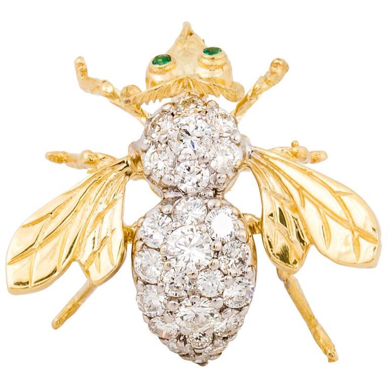 Diamond Bee Pin
