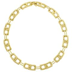 Tiffany & Co. Gold Geometric Link Necklace