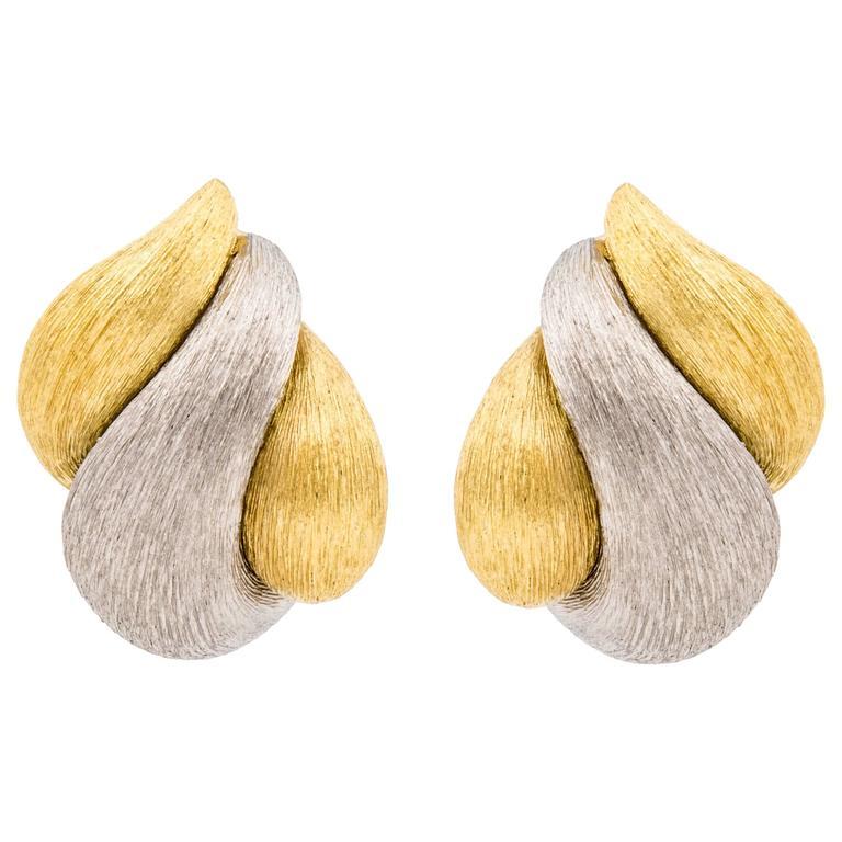 Henry Dunay 18K Two Tone Earrings