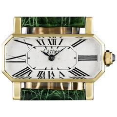 Cartier Ladies Yellow Gold Divan manual wind Wristwatch