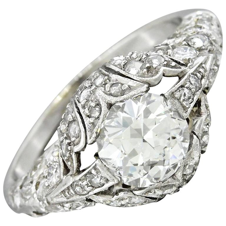 1920s antique deco 1 29 carat platinum