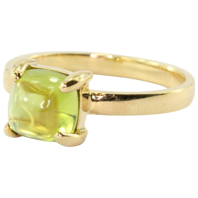 542050a7d Tiffany and Co. Paloma Picasso Sugar Stack Peridot Gold Ring at 1stdibs