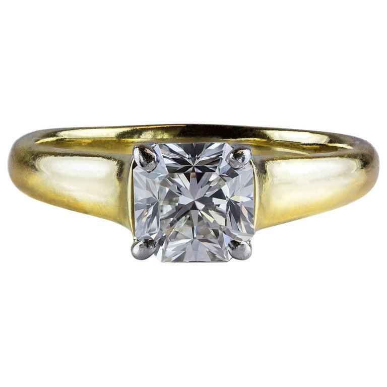 Tiffany & Co. 1.35 Carat GIA Certified F, VS1 Lucida Diamond Cut Ring For Sale