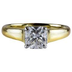 Tiffany & Co. 1.35 Carat GIA Certified F, VS1 Lucida Diamond Cut Ring