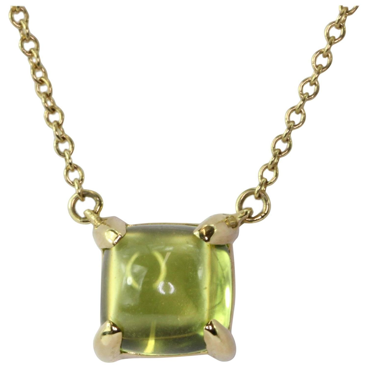 Antique Peridot Drop Necklaces 25 For Sale at 1stdibs