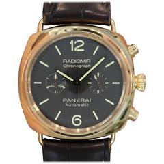 Panerai Rose Gold Special Edition Radiomir Chronograph Automatic Wristwatch