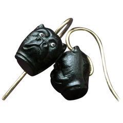 Late Victorian Bulldog Earrings