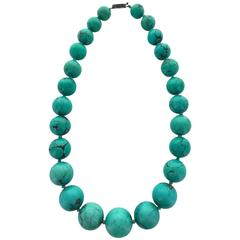 Antique Turquoise Matrix Necklace