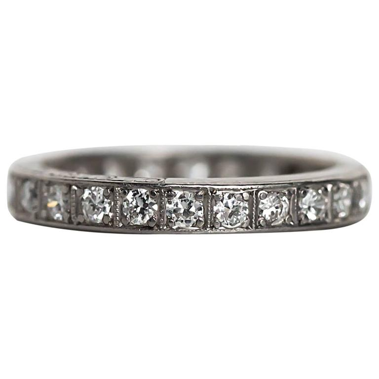 eternity platinum carat band wedding ring ct products jewelry bands diamond