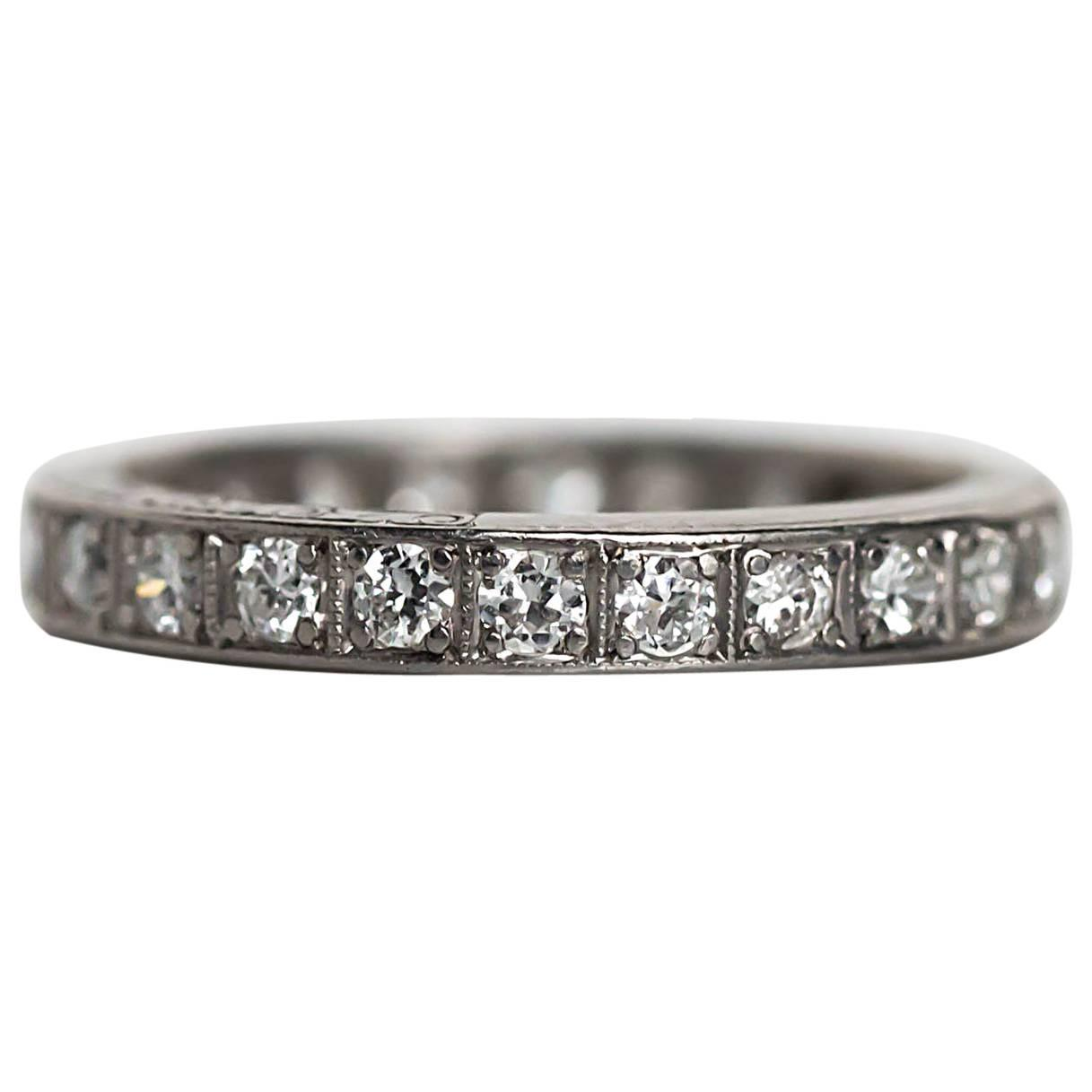 ring from art sapphire s and pin platinum diamond the deco bands