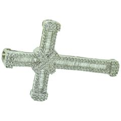 Tiffany Style Diamond Cross