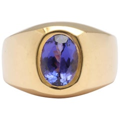 Tanzanite Men's Ring