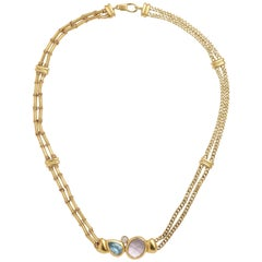 Manfredi Gold and Precious Stone Necklace