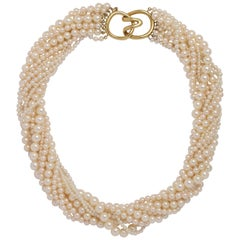 Tiffany & Co. Multi Strand and Mixed Size Pearl Collar