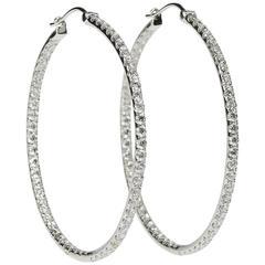 Jumbo Size Diamond Hoop Earring