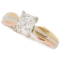 Cartier Tricolor Trinity Ring .92 Carat