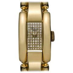 Chopard Ladies Gold Diamond Dial La Strada Wristwatch