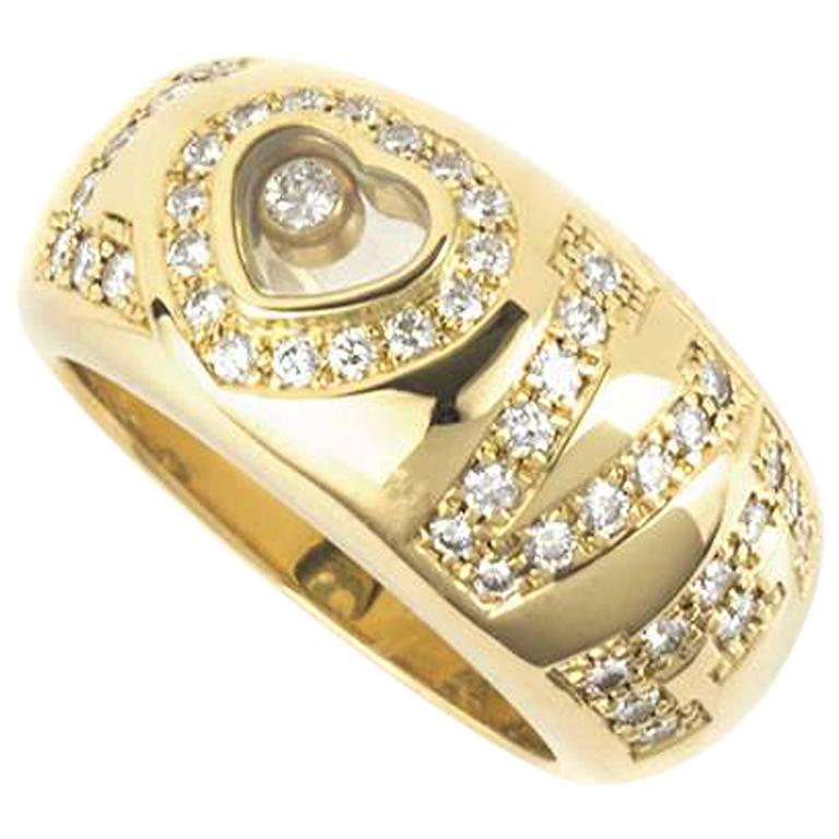 Chopard Happy Diamonds Love Ring For Sale at 1stdibs
