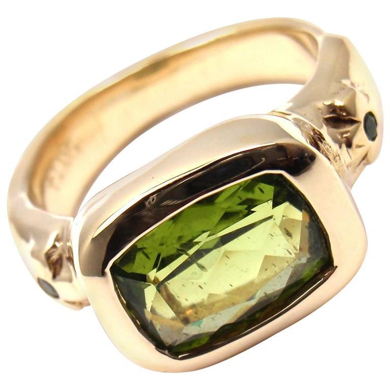 Loree Rodkin Peridot Tsavorite Gold Ring