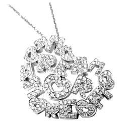 Pasquale Bruni Amore Diamond Gold Heart Shape Pendant Necklace