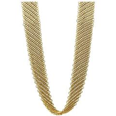 Tiffany & Co. Elsa Peretti Continuous Gold Mesh Necklace