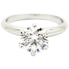 Ferrucci 1.40 Carat GIA Certified Diamond Platinum solitaire engagement ring