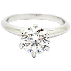 FERRUCCI GIA Certified 1.40 Carat Diamond Platinum Ring