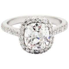 FERRUCCI GIA Certified 1.70 Carat Cushion Diamond, J Color, SI1 clarity Platinum