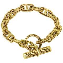 1960s Hermes Chain D'Ancre Gold Bracelet