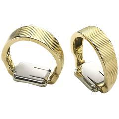 1950s Van Cleef & Arpels Stirrup Gold Cufflinks