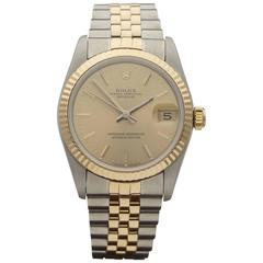 Rolex ladies Yellow Gold Stainless Steel mid size Automatic Wristwatch