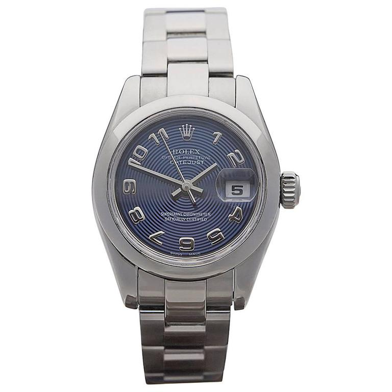Rolex Ladies Stainless Steel Datejust Automatic Wrist Watch